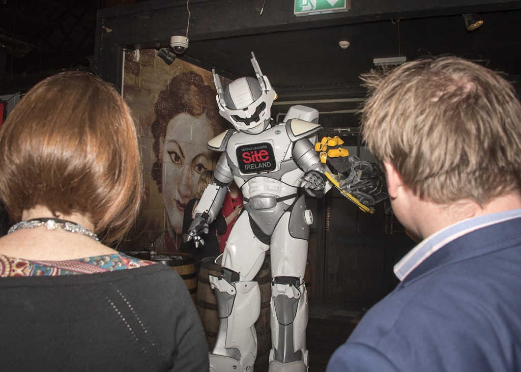 8 feet tall Robot-TED for hire with www.audionetworks.ie