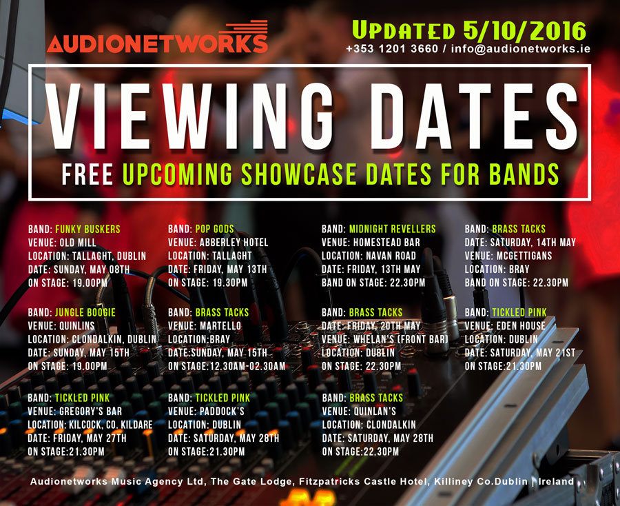 AudioNetworks_Booking_Agency_Free_Viewing_Dates_for_Bands_05.10.2016