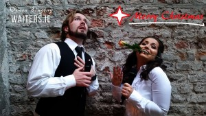 Christmas inspired Singing Waiters for hire with www.audionetworks.ie