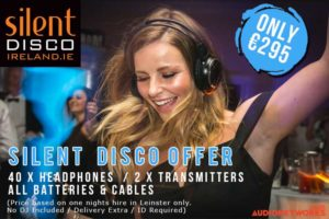 silent disco sales discount promotion wireless headsets