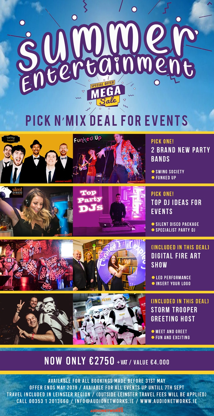 Summer Entertainment 2021– Pick'N'Mix Package Deal for Events