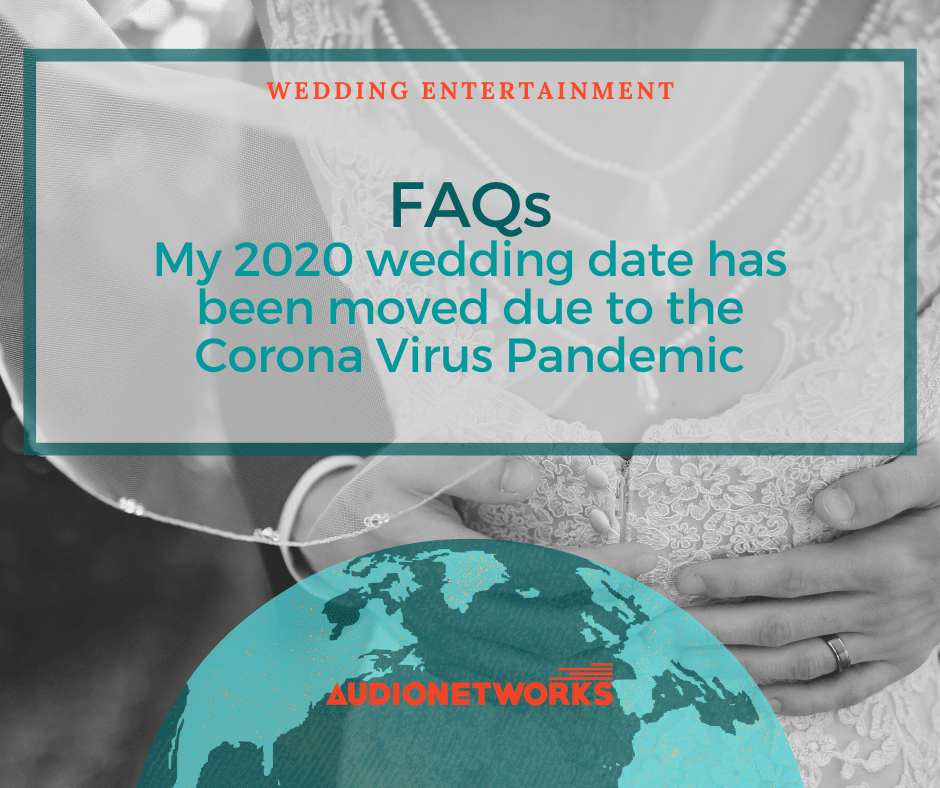 FAQs : My 2020 wedding date has been moved due to the Corona Virus Pandemic