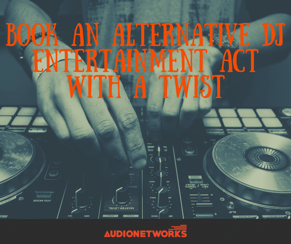 Looking to keep everyone on the dancefloor until the bitter end? Book an alternative DJ Entertainment Act with a twist!